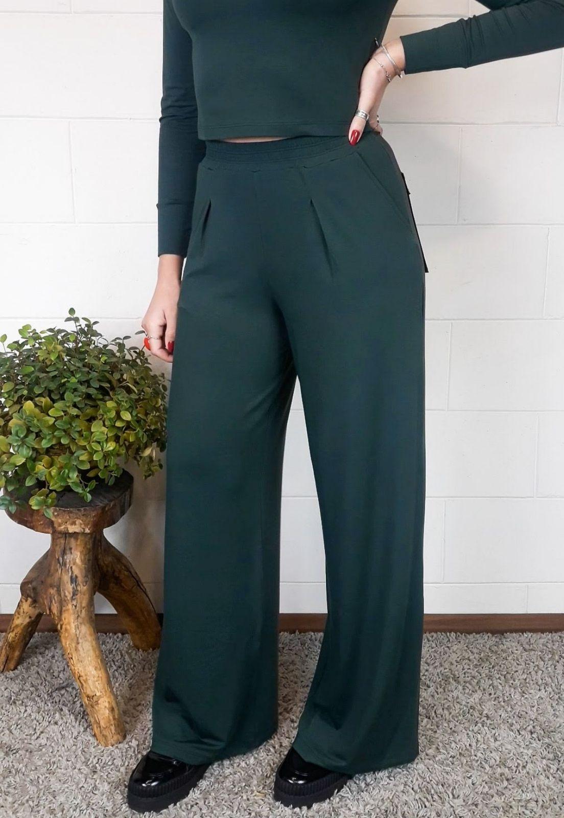Pantalona Bea Abdalla Com Bolsos Verde