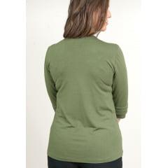 Blusa Bea Abdalla Detalhe Botões No Ombro Verde