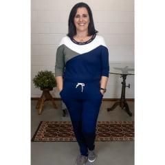 Conjunto Bea Abdalla Tricolor Azul Marinho