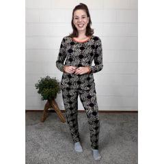 Pijama Bea Abdalla Longo Animal Print Caramelo