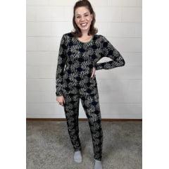 Pijama Bea Abdalla Longo Animal Print Verde