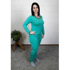 Pijama Bea Abdalla Longo Liso Verde