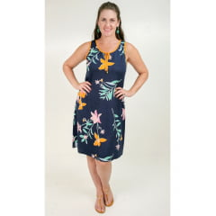 Vestido Bea Abdalla Regata Floral Azul Marinho